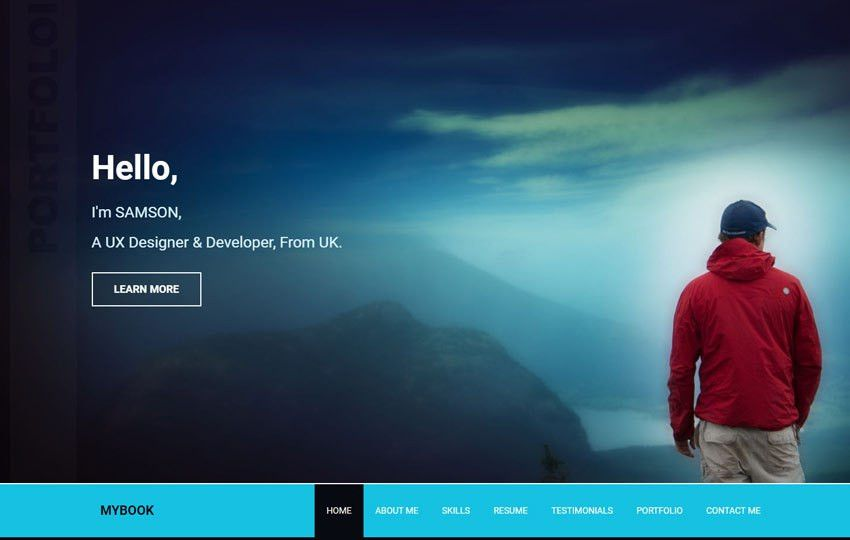 Mybook Portfolio Responsive Bootstrap Free Web Template - WebThemez