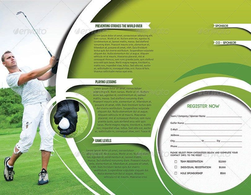 Golf Tournament Trifold Brochure Template by redshinestudio ...