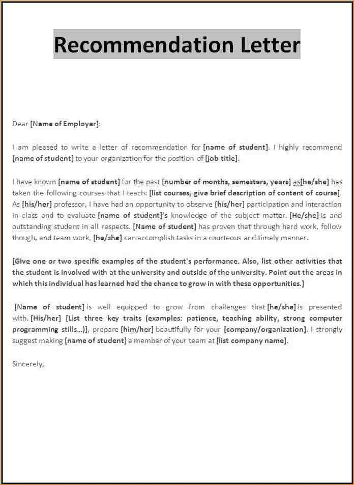 9+ letter recommendation | academic resume template