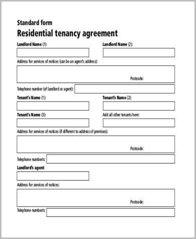 rental application form for tenants