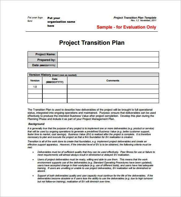 Project Plan Template – 23+ Free Word, Excel, PDF Format Download ...