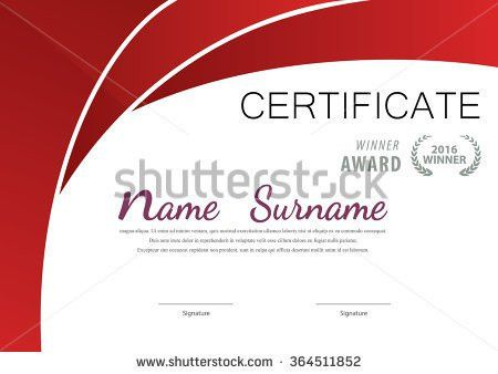 Vector Template Certificate Diploma Stock Vector 460130524 ...