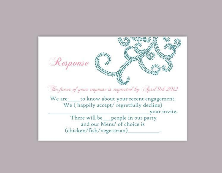 DIY Bollywood Wedding RSVP Template Editable Word File Instant ...