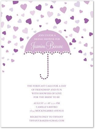 Purple Bridal Shower Invitations | badbrya.com