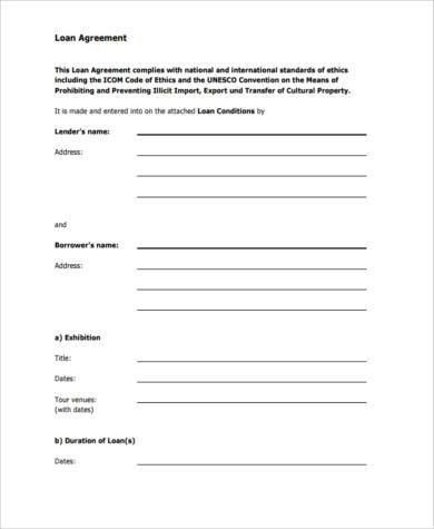Loan Contract Form Samples - 8+ Free Documents in Word, PDF
