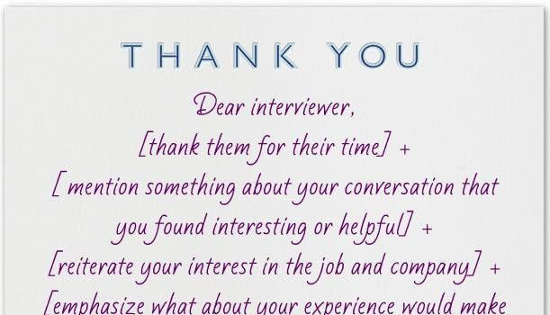 Thank You Card: Simple Gallery Thank You Cards For Interviews ...