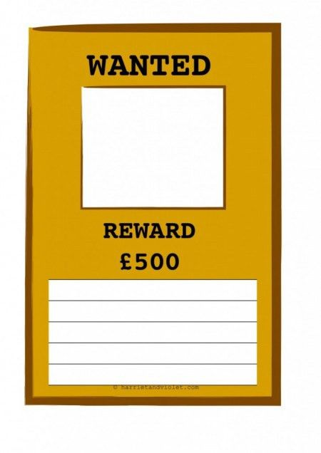 wanted poster template h Early Years (EYFS), KS1, KS2, Primary ...
