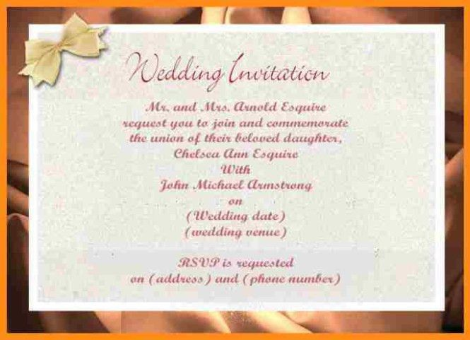 Wedding Invitation On Mail Format | PaperInvite