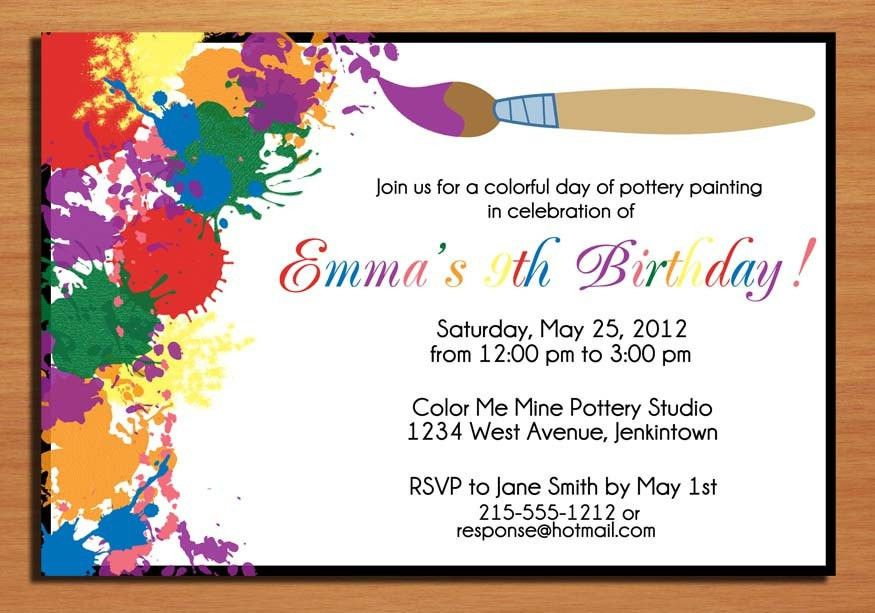 Invitation Birthday Card | badbrya.com