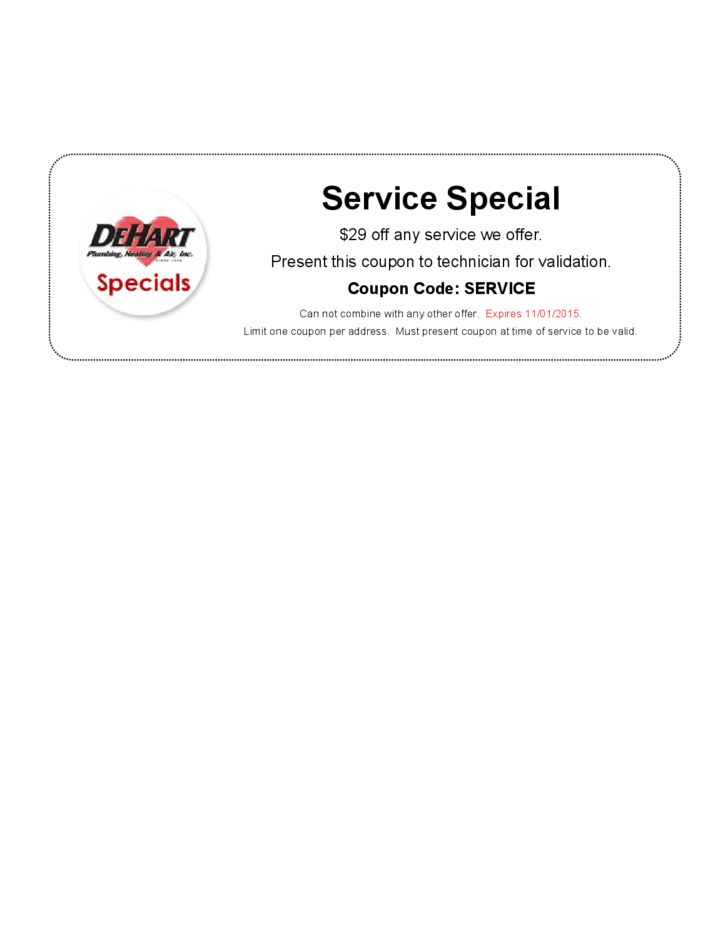 Sample Service Coupon Template Free Download