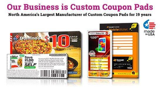 "Custom Printed Coupon Pads: 3"" x 6"" | PrintPPS.com"