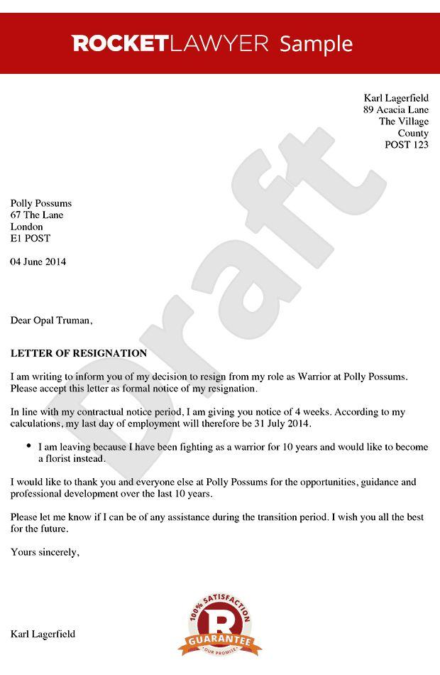 letter | Resignation letter sample