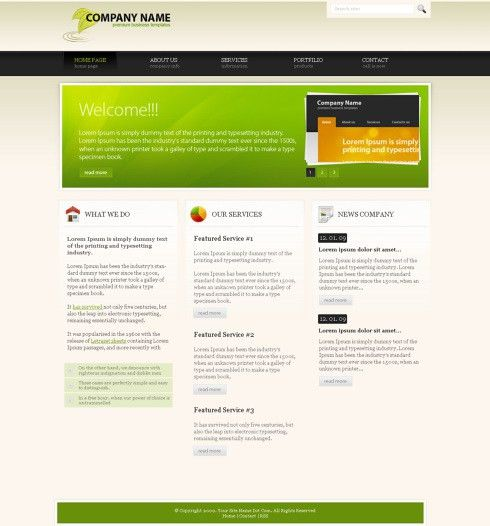 EcoForest - HTML Template - Corporate CSS Templates - CSS ...