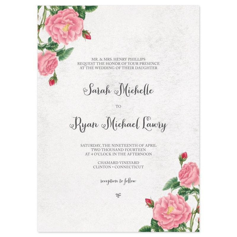 Budding Blooms Wedding Invitations | Invitation wording, Botanical ...