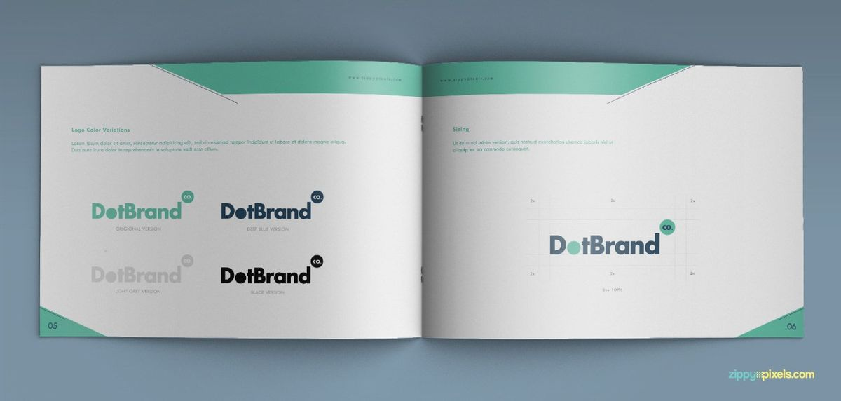 Brand Color Specifications – Brand Book Template for Brand ...