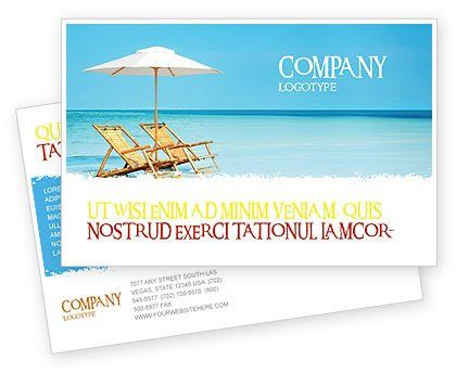 Beach Bench Postcard Template in Microsoft Word, Adobe InDesign ...
