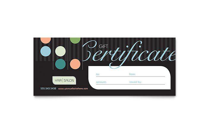 Beauty & Hair Salon Gift Certificate Template Design