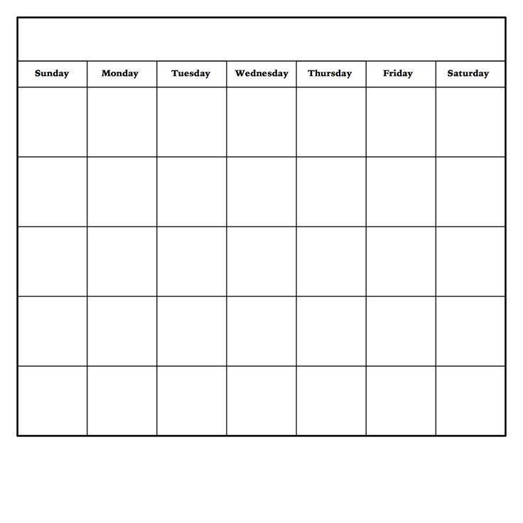 Monthly Calendar Template | calendar 2017 printable