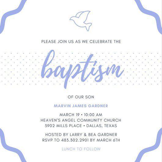 Baptism Invitation Templates - Canva