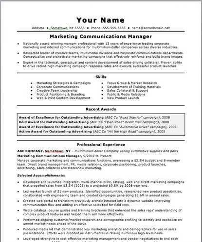 sample director of communication resume director of