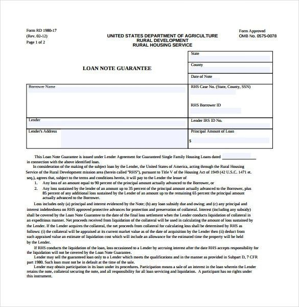 Loan Note Template - 8 Free Word, PDF Documents Download | Free ...