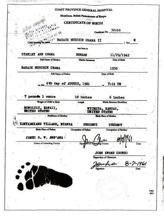 Obama Kenyan Birth Certificate Filed in US District Court? - Right ...