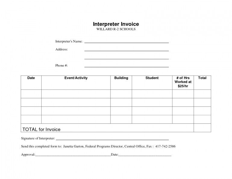 Interpreting Invoice Template Uk | Design Invoice Template