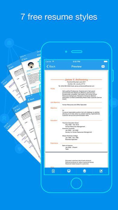 Quick Resume - Resumes Builder and Designer on the App Store