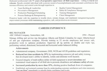 pretty oil and gas resume examples images oil gas engineer