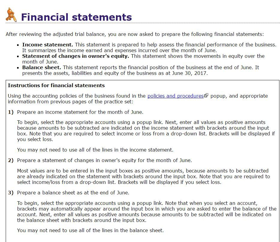 Financial Statements After Reviewing The Adjusted ... | Chegg.com