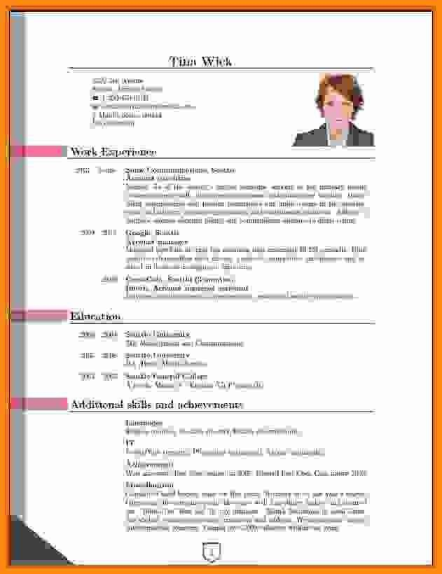 4+ latest cv format in ms word | musicre sumed