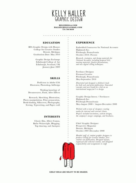 Design Inspiration: The Art of the Résumé | Design resume ...