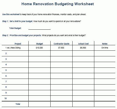 remodeling bid template