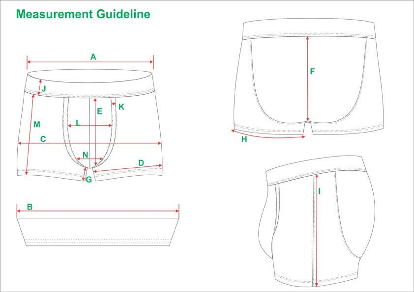 Tech Pack Template Boxer Shorts