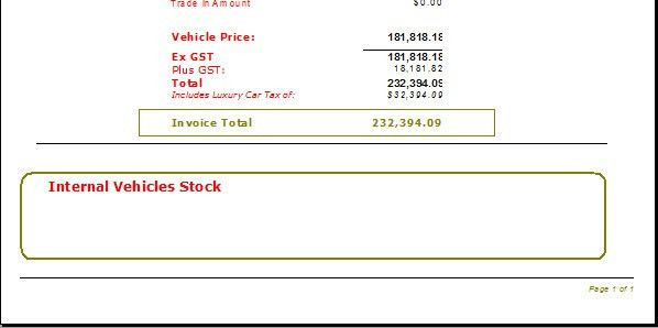 Vehicle Invoice