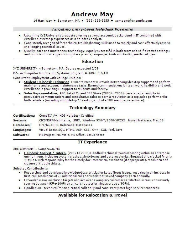 Resume Sample For Entry Level Teacher - Templates