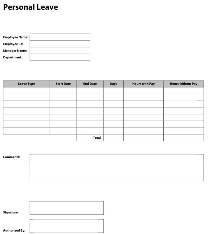 Sample Time Off Request Form. Download Construction Payment ...