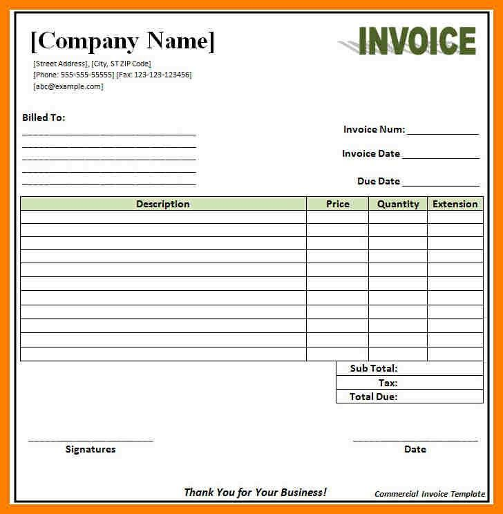 8+ retail invoice format in excel | packaging clerks