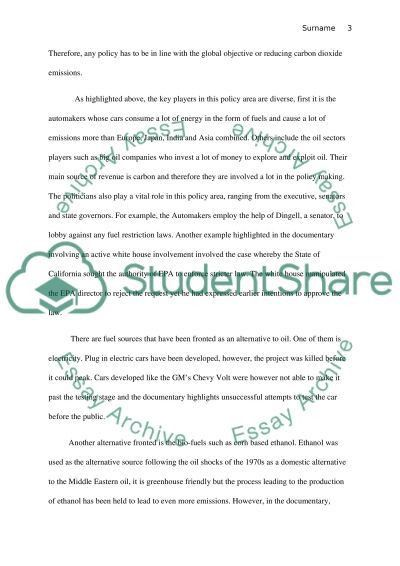 Environmental Heat Policy Brief Essay Example | Topics and Well ...