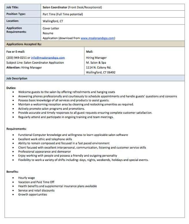 top 8 hair salon assistant resume samples. cosmetologist resume ...