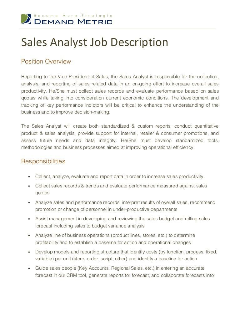 Business Analyst Job Description. Permalink To Business Analyst ...