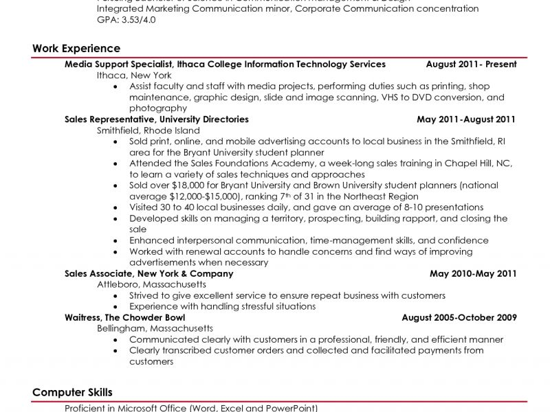 Very Attractive College Student Resume 4 High School Objective ...