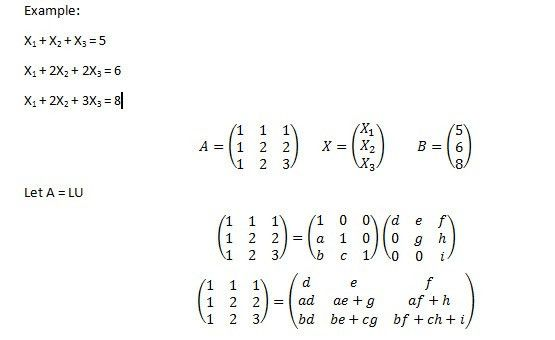 Doolittle's Method - Numerical methods