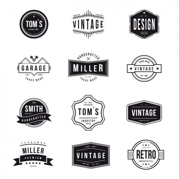 Vintage logos collection Vector | Free Download