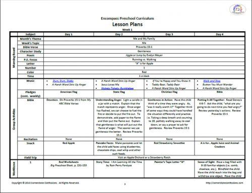 Nursery School Lesson Plans ~ TheNurseries