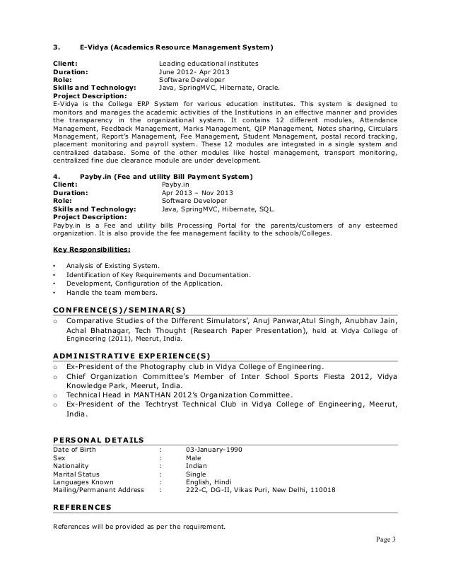 Resume for Java position with 4+ years of exp__Anuj Panwar