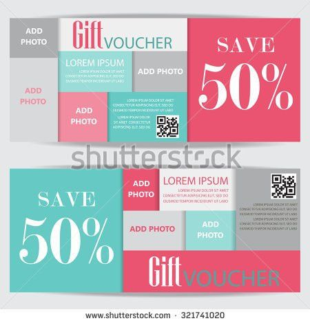 Gift Voucher Template Vector Illustration Your Stock Vector ...