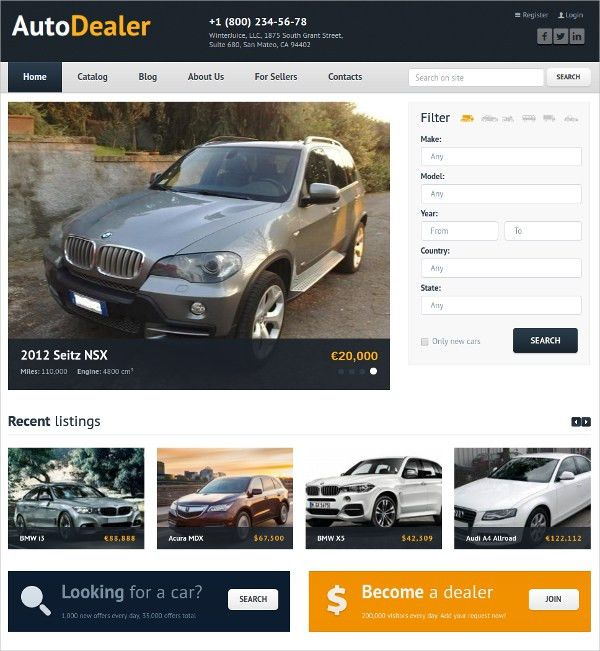 17+ Automobile Website Themes & Templates | Free & Premium Templates
