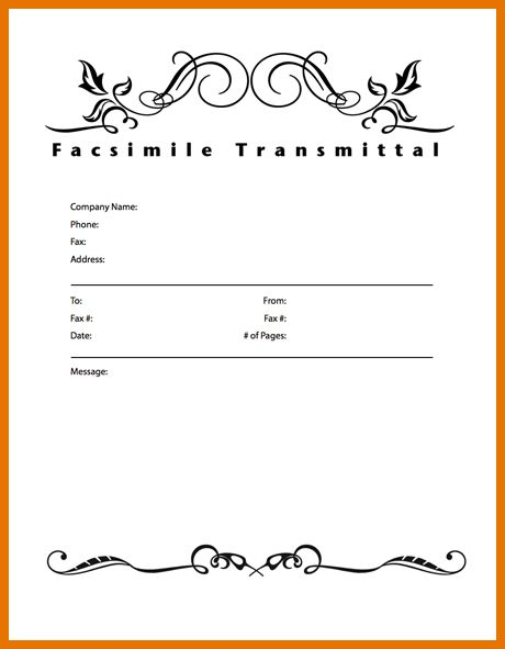 7+ fax cover sheet format | Itinerary Template Sample