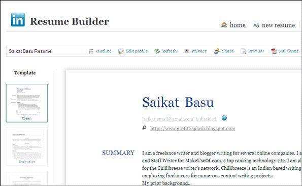 Resume Builder Linkedin | haadyaooverbayresort.com